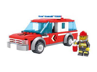 KAZI / GBL / BOZHI KY98209 Fire Police: Fire Patrol Car 0