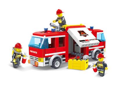 KAZI / GBL / BOZHI KY98207 Fire Police: Fire Trucks 0