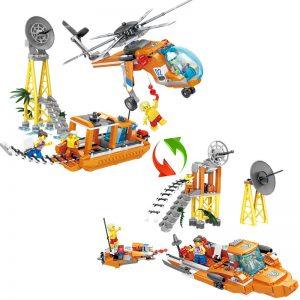 KAZI / GBL / BOZHI KY80521 Fire rescue: rescue lift helicopter rescue boat, rescue rescue transport ship 1 change 2 0