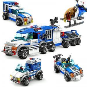KAZI / GBL / BOZHI KY67252-2 City Police: Large Escort Command Vehicle 4in1 4 Fit 0