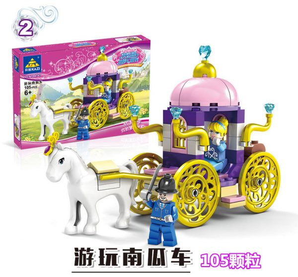 KAZI / GBL / BOZHI 98707-4 Cinderella's Dreamworld Carriage 4 2