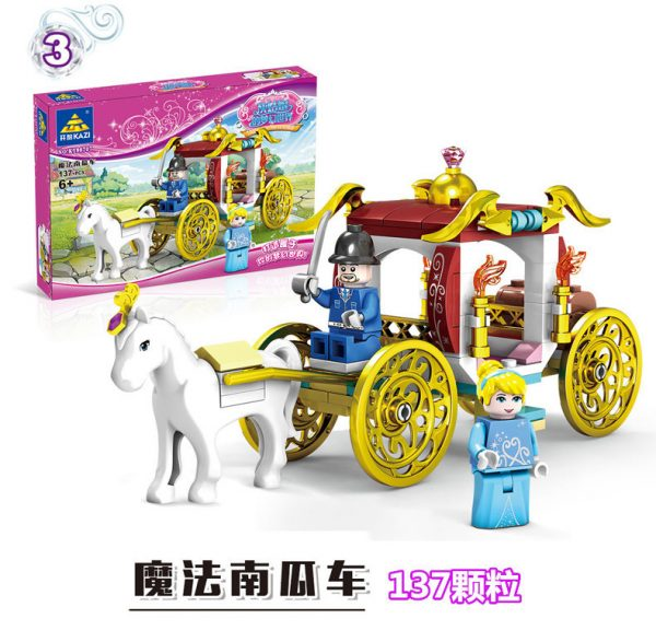 KAZI / GBL / BOZHI 98707-3 Cinderella's Dreamworld Carriage 4 3