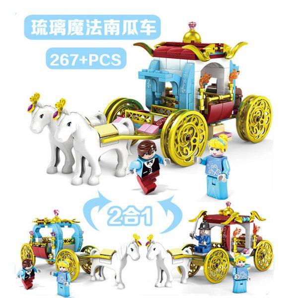 KAZI / GBL / BOZHI 98707-2 Cinderella's Dreamworld Carriage 4 6