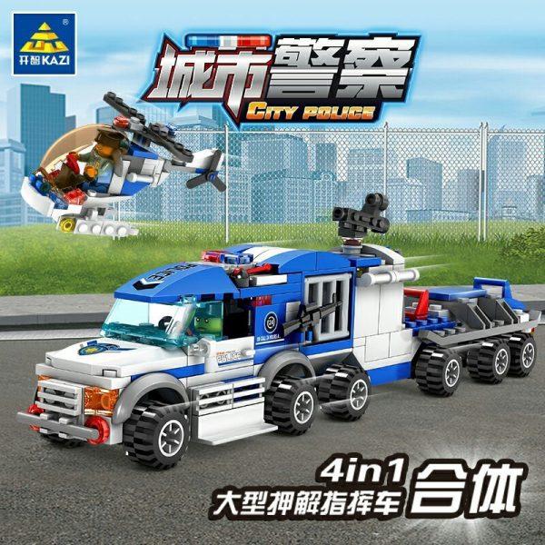 KAZI / GBL / BOZHI KY67252-2 City Police: Large Escort Command Vehicle 4in1 4 Fit 3