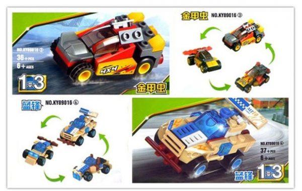 KAZI / GBL / BOZHI KY89016-4 Ultimate Racing: Boeing Racing 4 Combinations 3