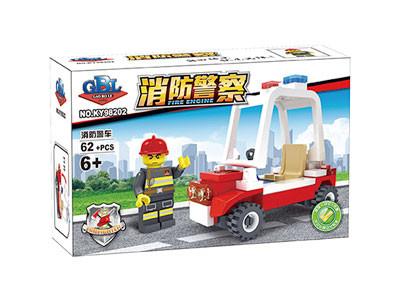KAZI / GBL / BOZHI KY98202 Fire Police: Fire Police Car 1