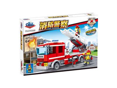 KAZI / GBL / BOZHI KY98205 Fire Police: Fire Ladder Car 1