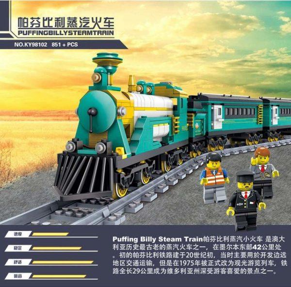 KAZI / GBL / BOZHI KY98225 Rail train: Australian Puffinbilly Steam Train 1