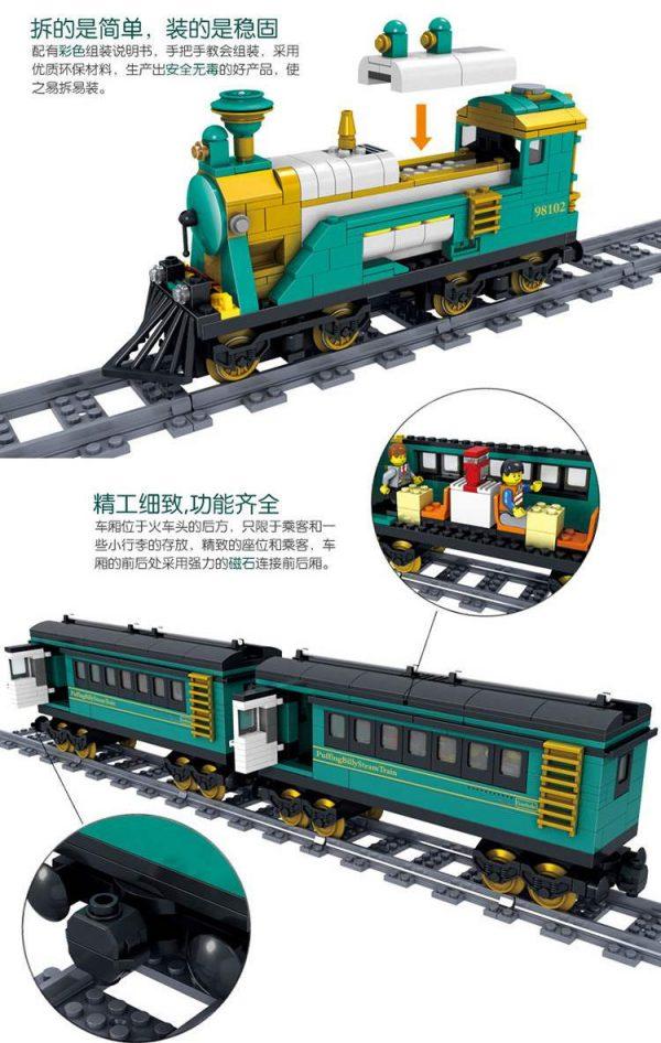 KAZI / GBL / BOZHI KY98102 Rail train: Australian Puffinbilly Steam Train 2