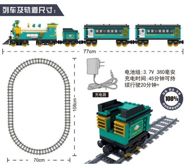 KAZI / GBL / BOZHI KY98225 Rail train: Australian Puffinbilly Steam Train 4