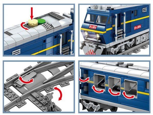 KAZI / GBL / BOZHI KY98220 Rail train: Dongfeng 11Z internal combustion locomotive 7