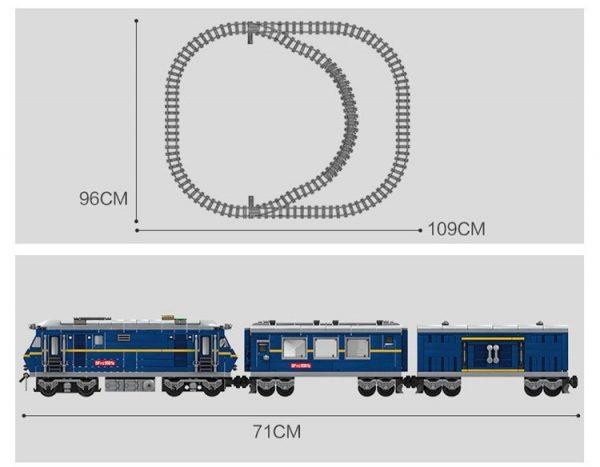 KAZI / GBL / BOZHI KY98220 Rail train: Dongfeng 11Z internal combustion locomotive 9