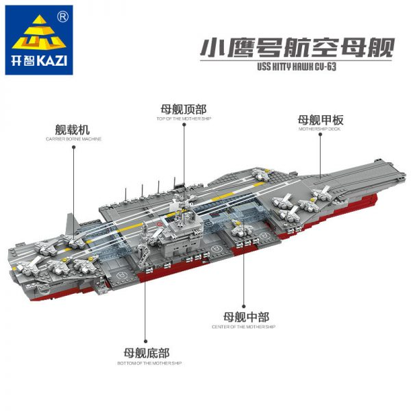 KAZI / GBL / BOZHI KY10002 The Kitty Hawk aircraft carrier 1:400 1