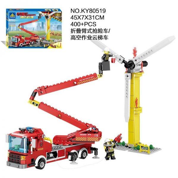 KAZI / GBL / BOZHI KY80519 Fire rescue: folding arm rescue vehicle, high-altitude operation ladder car 1 change 2 2