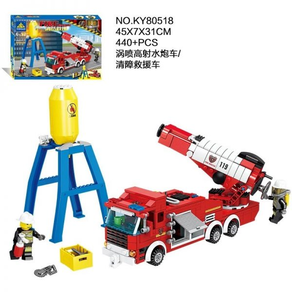 KAZI / GBL / BOZHI KY80518 Fire and rescue: vortex-spray anti-water cannon vehicle, barrier rescue vehicle 1 change 2 2