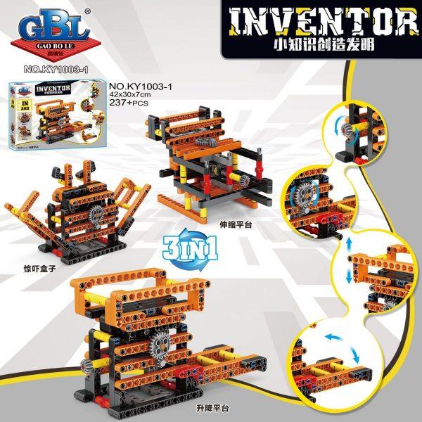 KAZI / GBL / BOZHI KY1003-3 Small knowledge creation invention: grasping doll machine lifting platform, balance scale, lifting bridge, folding bridge 1
