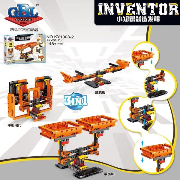 KAZI / GBL / BOZHI KY1003-2 Small knowledge creation invention: grasping doll machine lifting platform, balance scale, lifting bridge, folding bridge 2