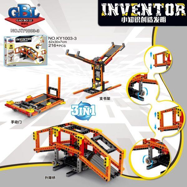 KAZI / GBL / BOZHI KY1003-3 Small knowledge creation invention: grasping doll machine lifting platform, balance scale, lifting bridge, folding bridge 3