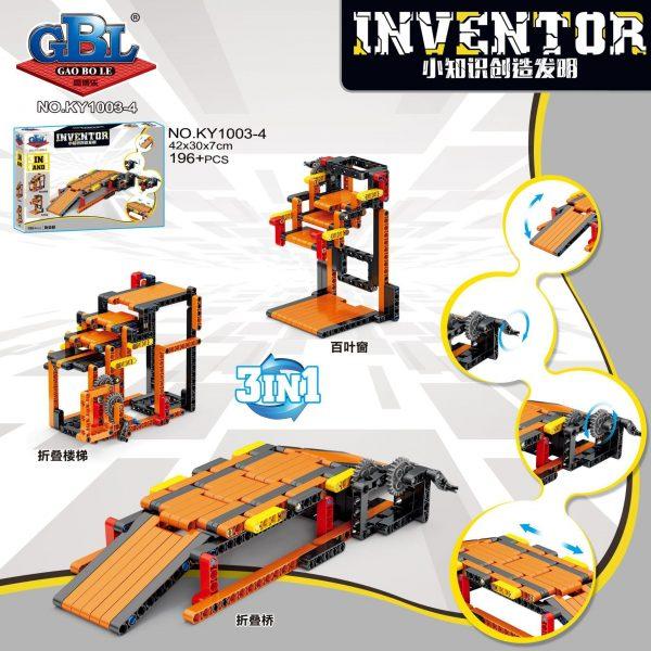 KAZI / GBL / BOZHI KY1003-3 Small knowledge creation invention: grasping doll machine lifting platform, balance scale, lifting bridge, folding bridge 4