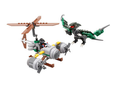 KAZI / GBL / BOZHI KY98001 Dinosaur Attack Team: Green Pterosaurs and Rotors 0