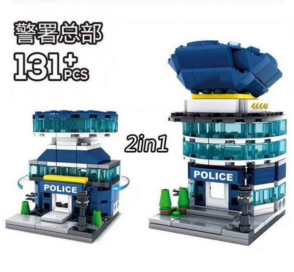 KAZI / GBL / BOZHI KY5003 Mini-Building: Police Headquarters 2in1 0