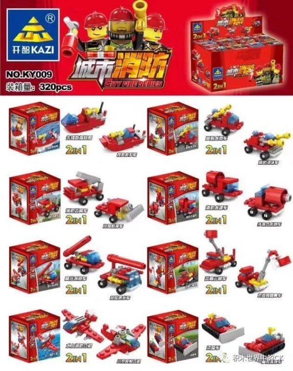 KAZI / GBL / BOZHI KY009-3 City Fire Carriers 8 0