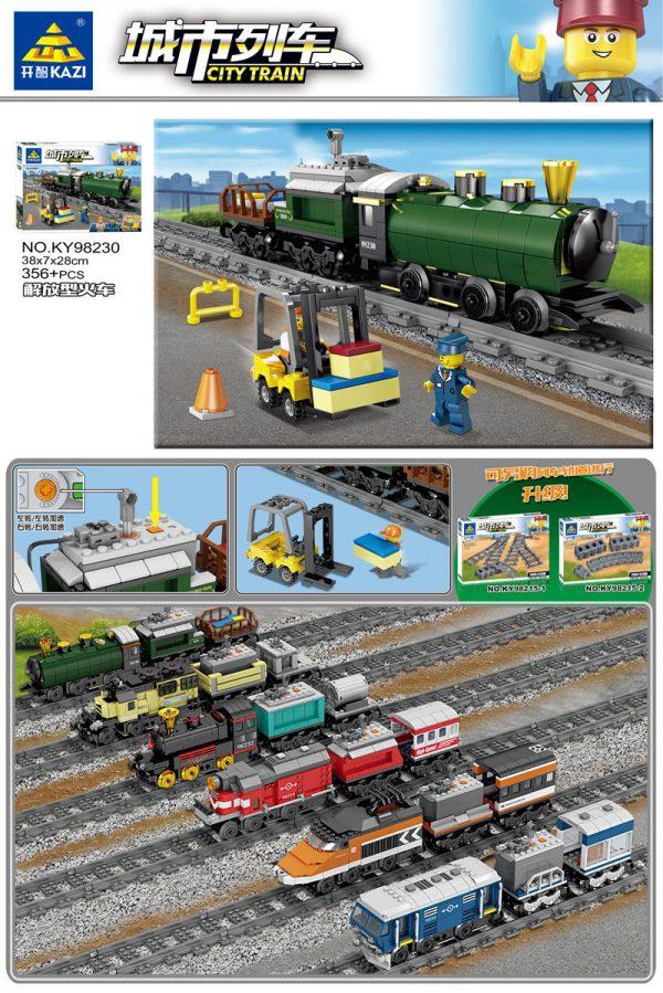 KAZI / GBL / BOZHI KY98230 City Train: Emancipation Train (Small) 0