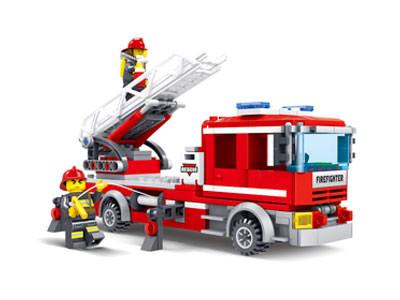 KAZI / GBL / BOZHI KY98205 Fire Police: Fire Ladder Car 0
