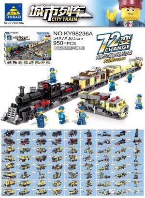 KAZI / GBL / BOZHI KY98236A Victory Steam Locomotive 72 Changes 0