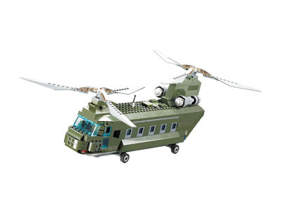 KAZI / GBL / BOZHI KY84009 Field Force: Chinook Military Helicopter 0