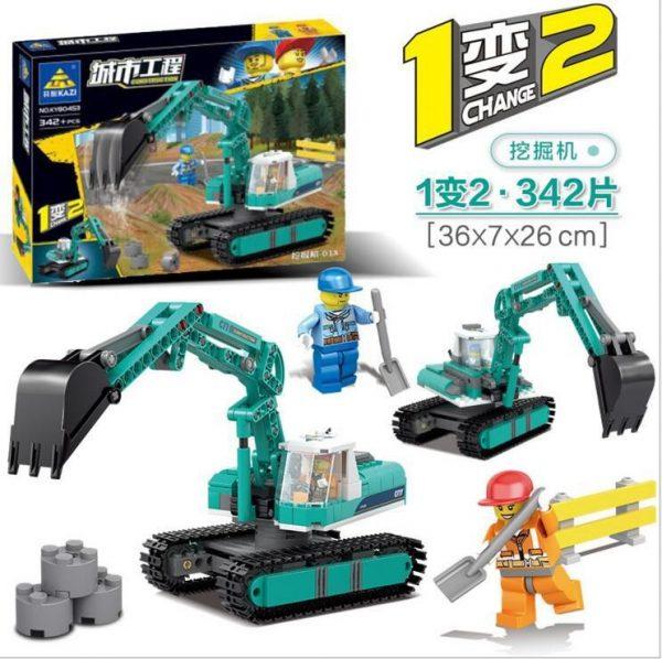 KAZI / GBL / BOZHI KY80453 City Engineering: Excavator-01X, Excavator-02R 0