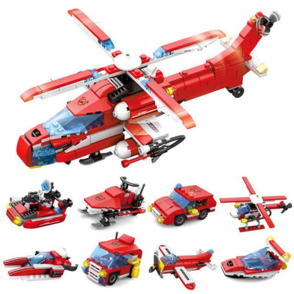 KAZI / GBL / BOZHI KY80514-3 Urban Fire: Heavy Fire Helicopter 8IN1 8 Fit 0