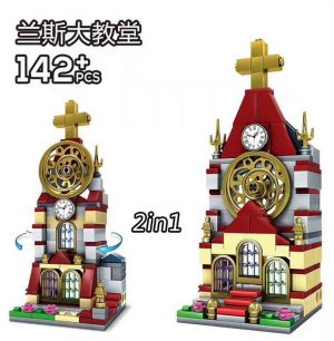 KAZI / GBL / BOZHI KY5001 Mini-building: Reims Cathedral 2in1 0