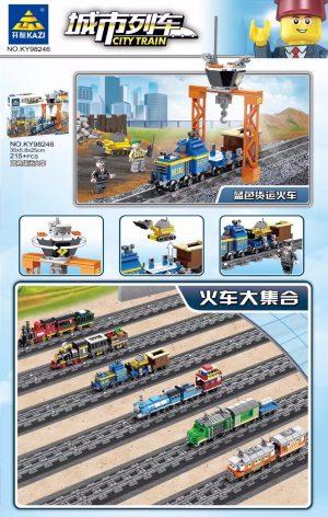 KAZI / GBL / BOZHI KY98246 City Train: Blue Freight Train (Small) 0