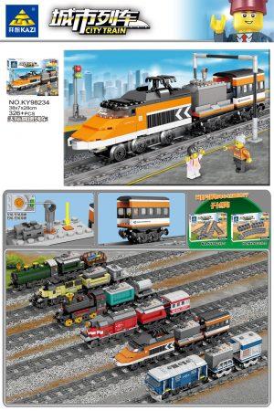 KAZI / GBL / BOZHI KY98234 City Train: Sky High Speed Train (Small) 0