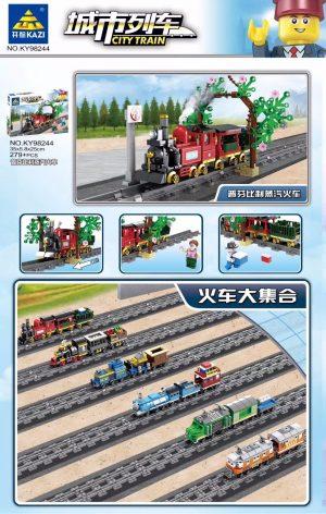 KAZI / GBL / BOZHI KY98244 City Train: Peffenbili Steam Train (Small) 0