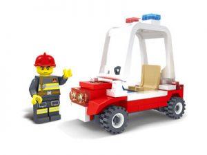 KAZI / GBL / BOZHI KY98202 Fire Police: Fire Police Car 0