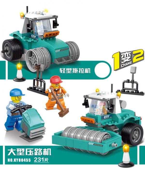 KAZI / GBL / BOZHI KY90455 City Project: Light Tractors, Large Rollers 0
