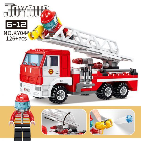 KAZI / GBL / BOZHI KY044 Smart Fire: Ladder Fire Engine 0