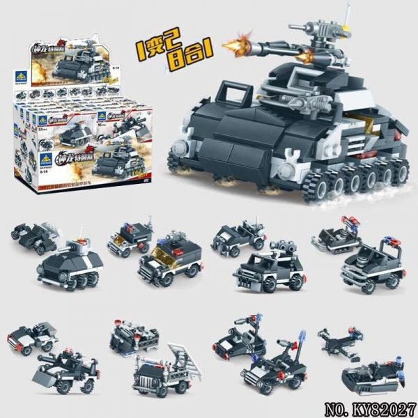 KAZI / GBL / BOZHI KY82027-7 Shenlong Special Police Force: 90-type water and land dual-use light armored combat vehicles 0