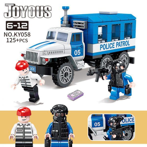 KAZI / GBL / BOZHI KY058 Smart police: The prisoner escorts the police car 0