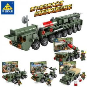 KAZI / GBL / BOZHI KY84052-3 Field Forces: Baiyang Missile Launch Training Vehicle 4 Combination 30N6E2 Guided Irradiated Radar Vehicle, 155mm 52x Car Howitzer, Dongfeng 21C Missile Vehicle, Liberation Truck 0