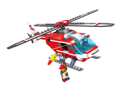 KAZI / GBL / BOZHI KY98210 Fire Police: Fire and Rescue Helicopter 0