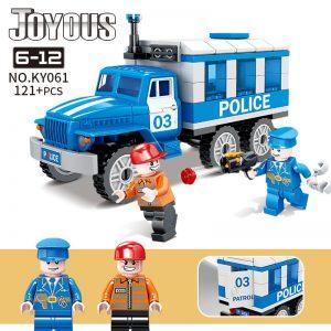 KAZI / GBL / BOZHI KY061 Smart police: Prisoner No. 03 escorts the police car 0