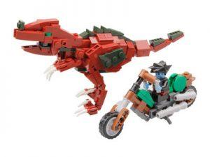 KAZI / GBL / BOZHI KY98003 Dinosaur Attack Team: Red Tyrannosaurus rex and motorcycle 0