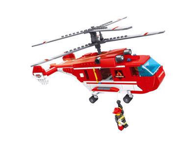 KAZI / GBL / BOZHI KY98213 Fire Police: Transport Helicopter 0