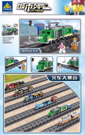 KAZI / GBL / BOZHI KY98248 City Trains: Green Freight Trains (Small) 0