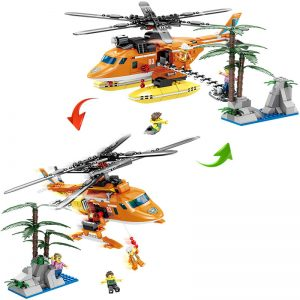KAZI / GBL / BOZHI KY80524 Fire and rescue: six-wing air rescue helicopter, double-rotor direct lift rescue aircraft 1 change 2 0